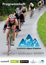 Programmheft - Garmin Alpen-Triathlon