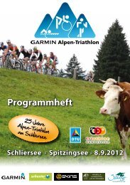 Schliersee - Spitzingsee - Garmin Alpen-Triathlon