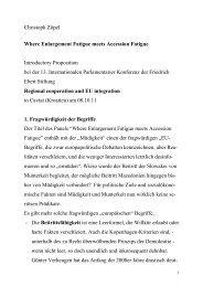 Christoph Zöpel Where Enlargement Fatigue meets Accession ...