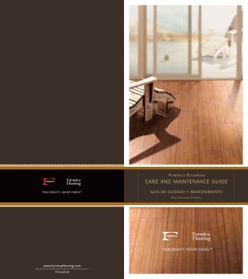 CARE AND MAINTENANCE GUIDE - Formica Flooring