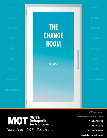 THE CHANGE ROOM - Myrdal Orthopedics Technologies