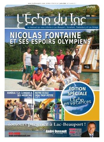 NICOLAS FONTAINE - L'Écho du Lac