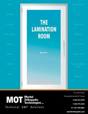 THE LAMINATION ROOM - Myrdal Orthopedics Technologies