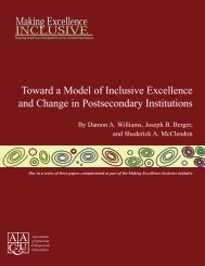 Toward a Model of Inclusive Excellence and Change