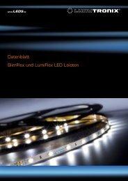 Datenblatt SlimFlex und LumiFlex LED Leisten - LEDS.de