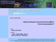 Przetwarzanie plików w języku C