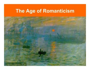 The Age of Romanticism - band4me
