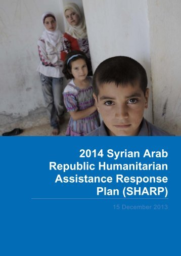 2014 Syrian Arab Republic Humanitarian Assistance Response Plan (SHARP)