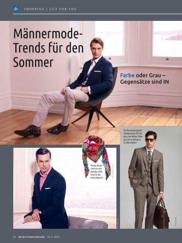 Männermode-Trends für den Sommer 2013 - CutForYou