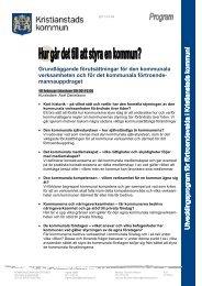 Grundläggande förutsättningar för den kommunala ... - Kristianstad