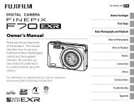 FinePix F70EXR Owner's Manual - Fujifilm