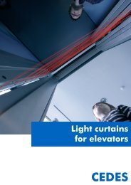 Light curtains for elevators - Cedes.com