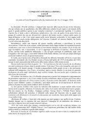 i cinquant'anni della «ronda - Catalogo Informatico delle Riviste ...