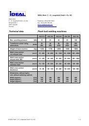 Technical data AS - IDEAL-Werk C. + E. Jungeblodt GmbH + Co. KG