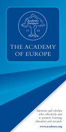 The AcAdemy of europe - Academia Europaea
