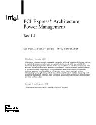 PCI Express* Architecture Power Management - Intel