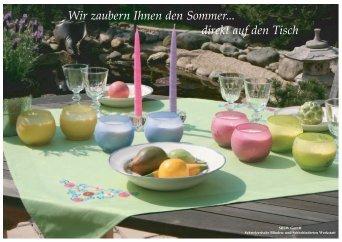 Wir zaubern Ihnen den Sommer... direkt auf den Tisch