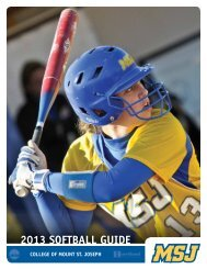 2013 SOFTBALL Guide - MSJ Lions Athletics