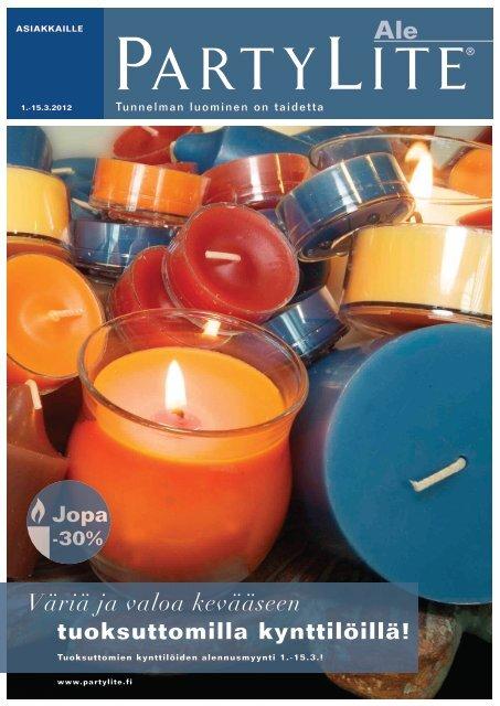Väriä ja valoa kevääseen tuoksuttomilla kynttilöillä! - PartyLite