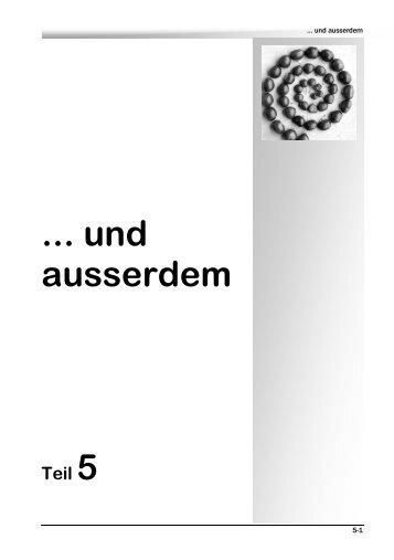 ... und ausserdem - Lernvisionen.ch