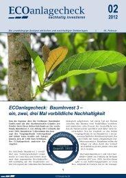 Ecoreporter Anlagecheck - BaumInvest