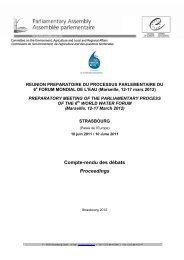 Compte-rendu des débats Proceedings - 6th World Water Forum
