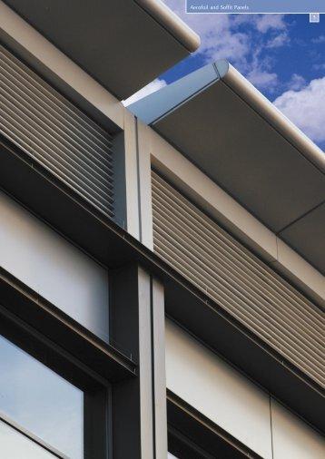 Aerofoil and Soffit Panels - EDM Spanwall