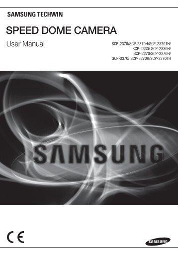 SPEED DOME CAMERA - Samsung CCTV