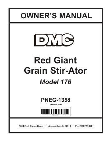 wiring diagrams pneg  red giant grain stir ator david manufacturing co