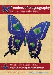entire PDF (2.6 MB) - The International Biogeography Society