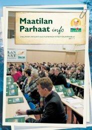 Maatilan Parhaat info 1 / 2011 - Snellman
