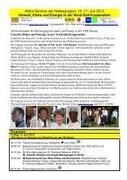 EINLADUNG Afrika-Seminar zu Umwelt und Nord ... - FUgE Hamm