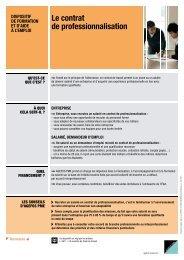 Fiche pratique Contrat de professionnalisation - Agefos PME