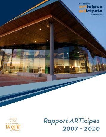 RAPPORT ANNUEL ARTICIPEZ 2010-2007 (pdf) - Arts Ottawa East ...