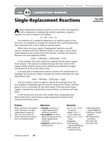 Worksheets Single Replacement Reaction Worksheet Answers single replacement reactions worksheet reactions