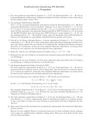 Kombinatorische Optimierung WS 2010-2011 1. ¨Ubungsblatt