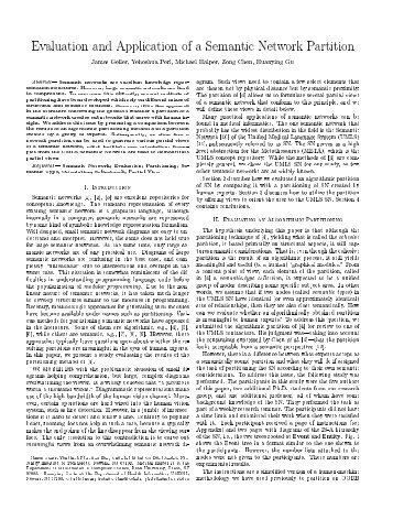 Evaluation and Application of a Semantic Network Partition James ...