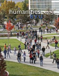 fall 2008 - BYU Humanities - Brigham Young University