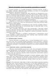 Možnosti využití statistiky a teorie zpracování dat v práci ... - Pf UJEP