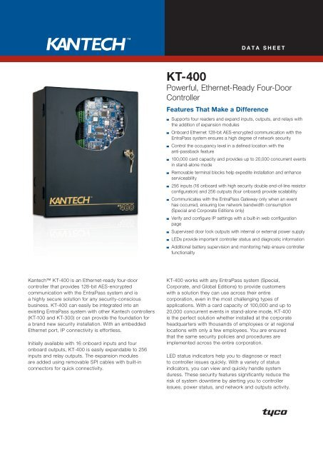 Kantech KT-300 Two Door Controller Board Multiple Available