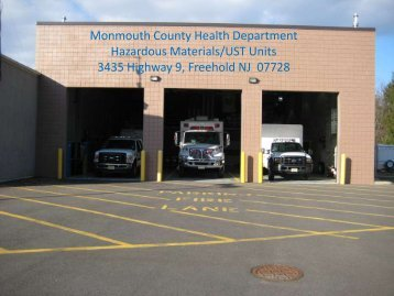MCHD Hazmat Program Overview Presentation - Monmouth County
