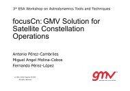 focusCn:GMV Solution for Satellite Constellation Operations - ESA