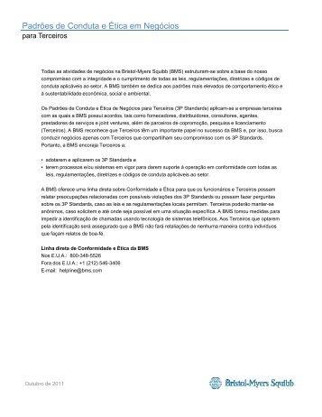Padrões de Conduta e Ética em Negó ócios - Bristol-Myers Squibb