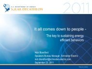 It All Comes Down to People: The Key to ... - Solar Decathlon