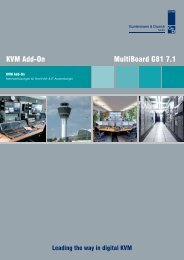 KVM Add-On MultiBoard G81 7.1 - Guntermann und Drunck GmbH