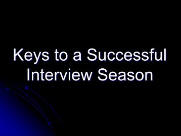 Keys to a Successful Interview Season.pdf - VascularWeb