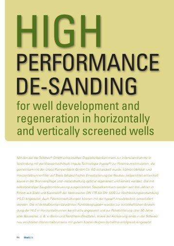 performance de-sanding - GCI GmbH
