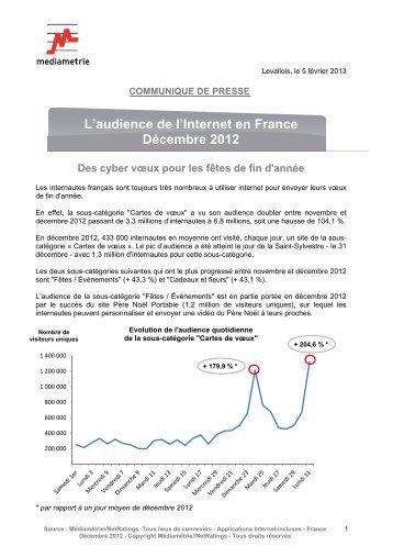 L'audience de l'Internet en France Décembre 2012 - Adequate ...