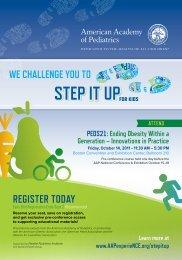 we challenge you to - American Academy of Pediatrics National ...