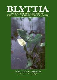 3-4/2000 ÅRGANG 58 ISSN 0006-5269 - Universitetet i Oslo